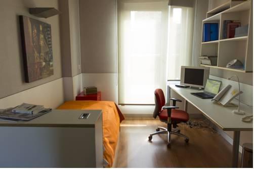 Ansicht Zimmer im Studentenwohnheim.